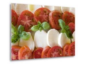 Tomatoes, Basil and Mozzarella Cheese by Olivier Cirendini