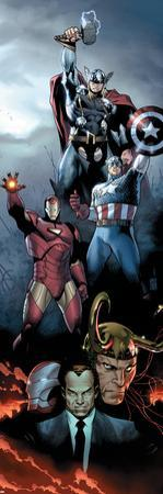 Siege No.1 Cover: Iron Man, Captain America and Thor by Olivier Coipel