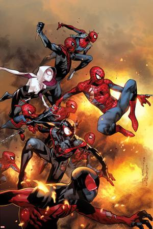 The Amazing Spider-Man No. 13 Cover, Featuring: Scarlet Spider, Spider-Man, Spider-Ham and More by Olivier Coipel