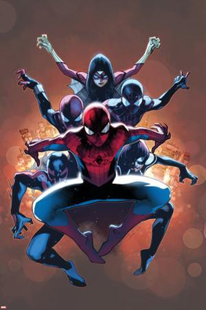 The Amazing Spider-Man No. 9 Cover, Featuring: Spider-Man, Spider Woman, Spider-Girl and More