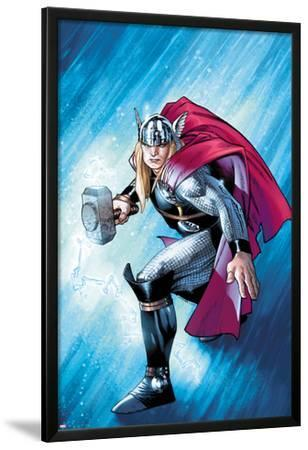 The Mighty Thor No.12.1 Cover: Thor with Mjonir