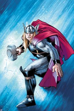 The Mighty Thor No.12.1 Cover: Thor with Mjonir by Olivier Coipel