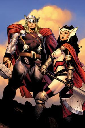 The Mighty Thor No.2: Sif and Thor by Olivier Coipel