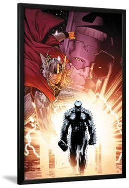 The Mighty Thor No.6 Cover: Thor and Destroyer by Olivier Coipel
