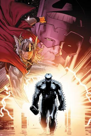 The Mighty Thor No.6 Cover: Thor and Destroyer