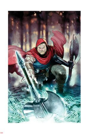 The Unworthy Thor #1 Cover Art Featuring Thor (Female)