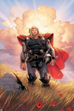 Thor No.10 Cover: Thor Jumping by Olivier Coipel