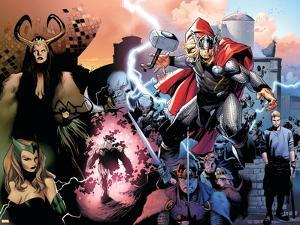 Thor No.600 Cover: Thor, Balder, Loki and Enchantress by Olivier Coipel