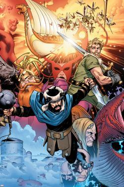 Thor: Tales of Asgard By Stan Lee & Jack Kirby No.4 Cover: Hogun, Fandral and Volstagg by Olivier Coipel