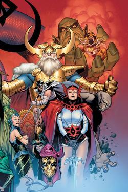 Thor: Tales of Asgard by Stan Lee & Jack Kirby No.6 Cover: Sif and Odin by Olivier Coipel