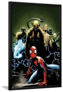 Ultimate Spider-Man No.155 Cover: Spider-Man, Green Goblin, Sandman, Electro, and Vulture by Olivier Coipel