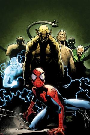 Ultimate Spider-Man No.155 Cover: Spider-Man, Green Goblin, Sandman, Electro, and Vulture