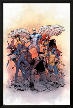 X-Men: Gold #1 Cover: Lockheed, Shadowcat, Storm, Angel, Grey, Jean, Bishop, Cyclops, Jubilee by Olivier Coipel