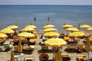 A Classical Lido on the Ionian Sea, on the Basilcata South Coast, Italy, Europe by Olivier Goujon