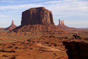 Adrian, Last Cowboy of Monument Valley, Utah, United States of America, North America by Olivier Goujon