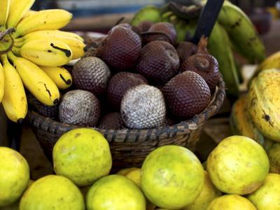 Local Fruits, Maracuja and Nuts, in the Central Market of Belem, Brazil, South America