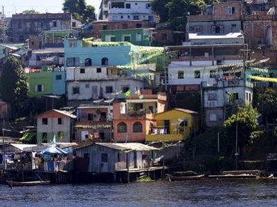 Some Favelas of Manaus on the Waterfront, Manaus, Brazil, South America