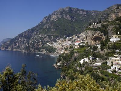 The Bay and the Village of Positano on the Amalfi Coast, Campania, Italy, Europe