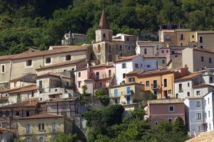 The Small Town of Maratea, on the Tyrrhenian Sea, Basilicata, Italy, Europe by Olivier Goujon