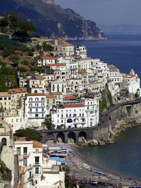View of Amalfi From the Coast, Amalfi Coast, Campania, Italy, Europe by Olivier Goujon