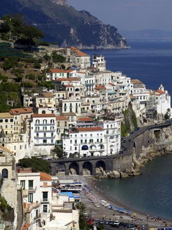 View of Amalfi From the Coast, Amalfi Coast, Campania, Italy, Europe