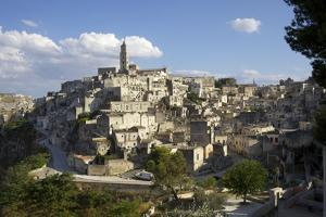 View of Matera from the Church, Matera, Basilicata, Italy, Europe by Olivier Goujon