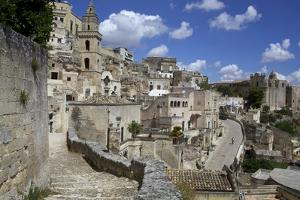 View of the City of Matera in Basilicata, Italy, Europe by Olivier Goujon