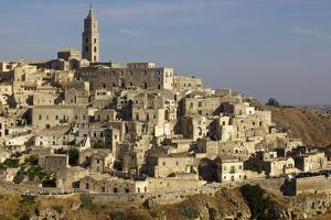 View of the Duomo and the Sassi of Matera, from the Cliffside, Matera, Basilicata, Italy, Europe by Olivier Goujon