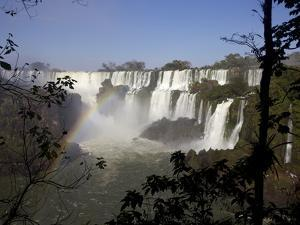 View of the Iguassu Falls From the Argentinian Side, Argentina, South America by Olivier Goujon