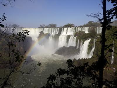 View of the Iguassu Falls From the Argentinian Side, Argentina, South America