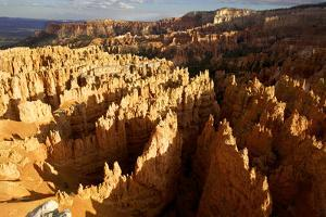 View over Bryce Canyon National Park at Sunset, Utah, United States of America, North America by Olivier Goujon