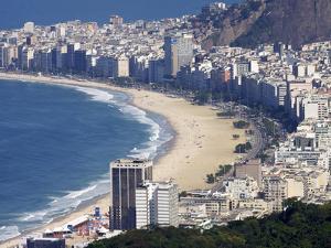 View Over Copacabana, Rio De Janeiro, Brazil, South America by Olivier Goujon