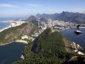 View Over Rio De Janeiro From the Sugarloaf Mountain, Rio De Janeiro, Brazil, South America by Olivier Goujon