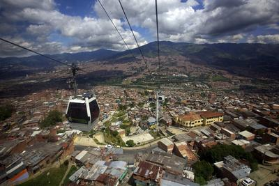 View over the Barrios Pobre of Medellin, Where Pablo Escobar Had Many Supporters, Colombia