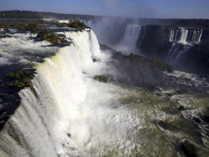 View Over the Iguassu Falls From the Brazilian Side, Brazil, South America by Olivier Goujon