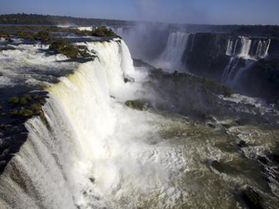 View Over the Iguassu Falls From the Brazilian Side, Brazil, South America