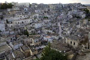 View over the Sassi of Matera in Basilicata, Italy, Europe by Olivier Goujon
