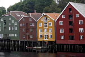 Wooden Houses, Trondheim, Norway, Europe by Olivier Goujon