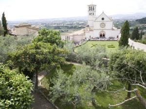 Basilica of San Francesco, and the Valley of Peace, Assisi, Umbria, Italy by Olivieri Oliviero