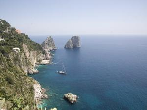Capri, with the Famous Faraglioni Rocks on the Back Ground, Capri, Bay of Naples, Italy by Olivieri Oliviero