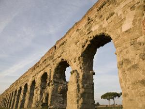 Claudian Aqueduct, the Appia Road, Rome, Lazio, Italy, Europe by Olivieri Oliviero