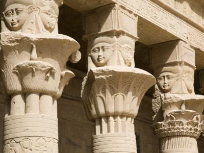 Columns of the Temple of Philae, UNESCO World Heritage Site, Nubia, Egypt, North Africa, Africa