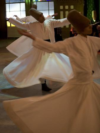 Dervish Mystic Dance at the Sirkeci Station, Istanbul, Turkey, Eurasia