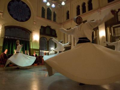 Dervish Mystic Dance at the Sirkeci Station, Istanbul, Turkey Minor, Eurasia