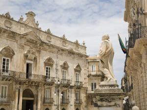 Duomo Square and the Baroque Facade of the Town Hall Palace, Syracuse, Sicily, Italy, Europe by Olivieri Oliviero