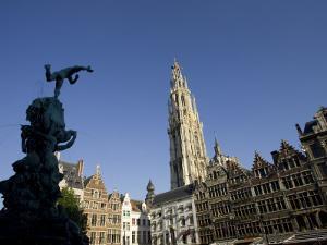 Grote Markt, Antwerp, Belgium, Europe by Olivieri Oliviero