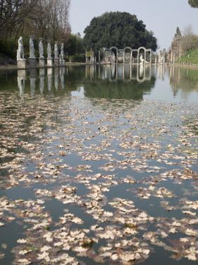 Pool, Canopo, Hadrian's Villa, UNESCO World Heritage Site, Tivoli, Near Rome, Lazio, Italy by Olivieri Oliviero