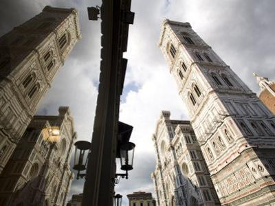 Reflections of the Cathedral of Santa Maria Del Fiore, Florence, Tuscany, Italy