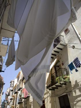 Street in the Town of Cefalu, Sicily, Italy, Europe by Olivieri Oliviero