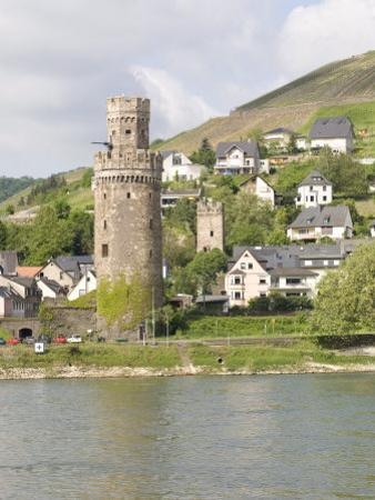 Tower of Braubach, Near Koblenz, the Rhine River, Rhineland-Palatinate, Germany, Europe